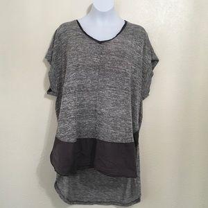 Anne Klein XL High Low Gray Top